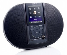 Плеер Flash Sony NWZE444B 8Gb D&D чёрный (Kit with speakers)