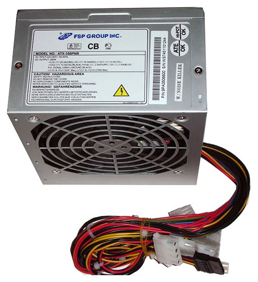 Блок питания FSP ATX 350W 350PNR 20+4 pin, 120mm fan, I/O Switch, 2*SATA