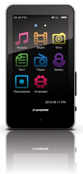 "Плеер Flash Digma Insomnia5 4Gb FM 3"" TFT Touch display чёрный"