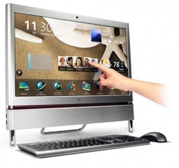 "Моноблок Acer AS Z5710 23"" Ci5 650/4G/1T/1G GF G240/TV/DVD-RW/CR/WF/BT/Cam/W7HP/KB+m silver"