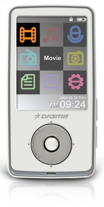 "Плеер Flash Digma Insomnia2 8Gb FM 2.4"" TFT display white"